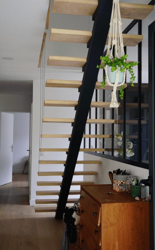 escalier bois et acier