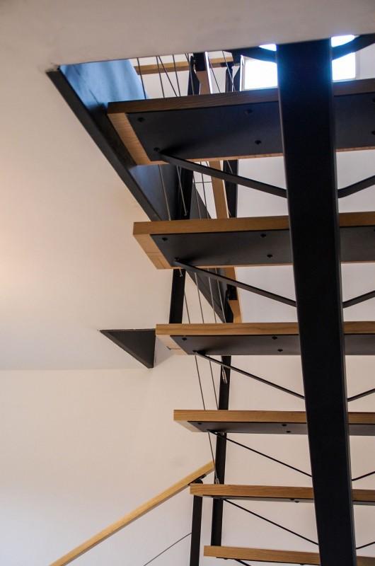 menuisier escalier acier et bois style industriel Ramonville st Agne